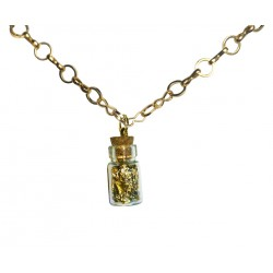 Pendentif fiole d'or